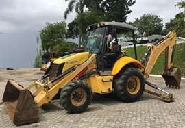 Retro Escavadeira New Holland B95B